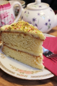 Rosewater and pistachio cake